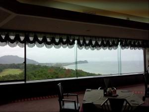 クラブハウスレストランからの景色