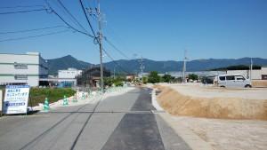 現地写真 北側道路面